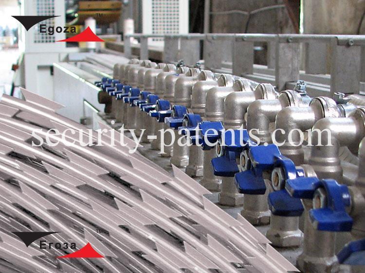 Renforcé bande barbelée de matériaux composites